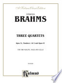Three String Quartets  Opus 51  Nos  1   2  Opus 67