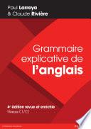 Grammaire explicative de l anglais