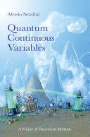 Quantum Continuous Variables book