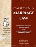 California Marriage Law