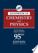 CRC Handbook of Chemistry and Physics  95th Edition