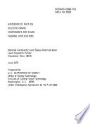 Handbook of data on selected engine components for solar thermal applications