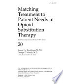Matching Treatment to Patient Needs in Opioid Substitution Therapy Book PDF