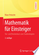 Mathematik f  r Einsteiger
