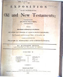 An Exposition of All the Books of the Old and New Testaments ...