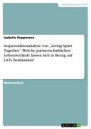 """Sequenzdatenanalyse von """"Living Apart Together"""". Welche partnerschaftlichen Lebensverläufe lassen sich in Bezug auf LATs bestimmen?"""