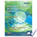 Quantitative Methods for Business and Economics