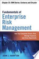 Fundamentals of Enterprise Risk Management Chapter 22: ERM Stories–Cerberus and Chrysler