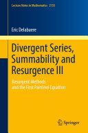 download ebook divergent series, summability and resurgence iii pdf epub
