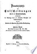 Plenarbeschlüsse und entscheidungen des K.K. Cassationshofes, veröffentlicht im auftrage des K.K. Obersten gerichts- als cassationshofes von der redaction der Allgemeinen österreichischen gerichtszeitung ...