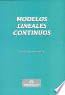 Modelos lineales continuos