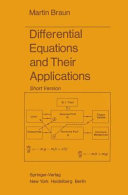 """""""Differential Equations and Their Applications"""" Cover"""