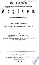 A compleat English-German, German-English dictionary: German-English part