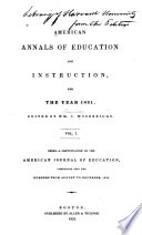 American Annals of Education and Instruction  and Journal of Literary Institutions