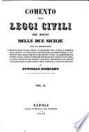 Comento sulle leggi civili