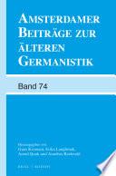 Amsterdamer Beitr  ge zur   lteren Germanistik  Band 74  2015