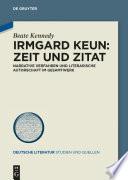 Irmgard Keun – Zeit und Zitat