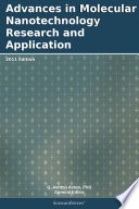 Advances In Molecular Nanotechnology Research And Application 2011 Edition