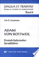 Adam von Rottweil Deutsch-Italienischer Sprachführer