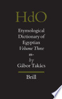 Etymological Dictionary of Egyptian