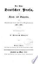 Drei Bücher deutscher Prosa in Sprach- und Stylproben