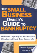 The Small Business Owner S Guide To Bankruptcy