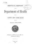 Report of the Board of Health of the City of Chicago for ...