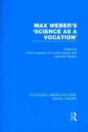 Max Weber s  Science as a Vocation
