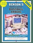 Benson's Rotisserie Baseball Annual