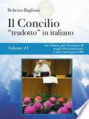 Il Concilio    tradotto    in italiano