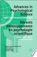 Advances in Psychological Science: Social, personal, and cultural aspects