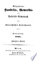Allgemeiner Handels-, Gewerbs- und Fabriks-Almanach für den österreichischen Kaiserstaat