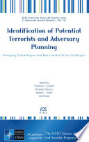 Identification of Potential Terrorists and Adversary Planning
