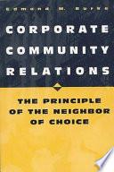 Corporate Community Relations