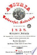 Austria oder Oesterreichischer Universal-Kalender. Hrsg. von Joseph Salomon