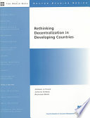 Rethinking Decentralization in Developing Countries