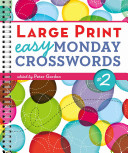 Large Print Easy Monday Crosswords  2