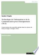Technologie de l'Information et de la Communication pour l'Enseignement (TICE)