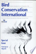 Bird Conservation International Special Issue  Neotropical Migrants