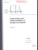 Chiefs of State and Cabinet Members of Foreign Governments