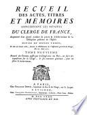 Recueil des actes, titres et mémoires