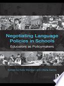 Negotiating Language Education Policies