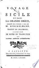 Voyage en Sicile et dans la grande Grèce