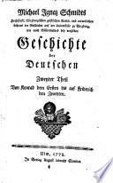 Von Konrad dem Ersten bis auf Friderich den Zweyten