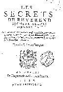 Book Les secrets de reuerend signeur Alexis Piemontois ...