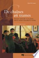 illustration du livre De chaines en trames