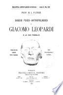Saggio psico antropologico su Giacomo Leopardi e la sua famiglia