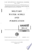 Military Water Supply and Purification