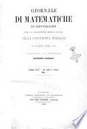 Giornale di matematiche di Battaglini