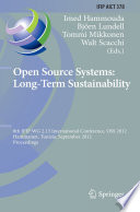 Open Source Systems  Long Term Sustainability